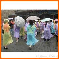 Wholesale PE Disposable Raincoats Poncho Rainwear Fashional Travel Rain Coat Rain Wear gifts mixed colors