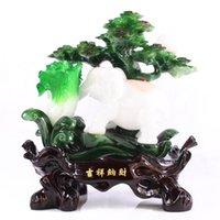 Cheap Lucky Jade factory direct auspicious elephant ornaments tuba creative household knick knacks FF142