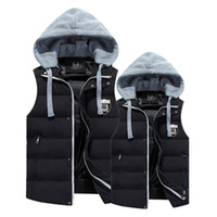 Wholesale Fall men vest gilet coats Cotton Hooded Vest jacket couple chaleco hombre mens waistcoat sleeveless jacket