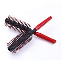Wholesale Popular Heat Resistant Red Hair Brush Plastic Curly Hair Styling Hairdressing Comb Brushes Hairbrush Styling Tools