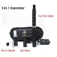 Cheap 3 IN 1 Electronic Cigarette Starter Kits Dry Herb Wax Eliquid Vaporizer Pen AGO G5 MT3 eGo D Vape Tank eGo-T EVOD Battery Ecig DHL Free
