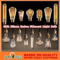 Wholesale Fashion Incandescent Vintage Light Bulb Edison Bulb Fixture E27 Bulbs V W Bulb Lights Antique Bulbs Best for the Edison Antique Lamps