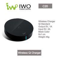 Wholesale Portable Ultra Slim Qi Wireless Charger Pad IWO C20 for Lumia Nexus Samsung Galaxy S6 Moto
