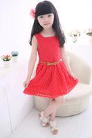 Wholesale 2015 summer new models Korean children lace vest skirt child princess dress children s clothing for girls items per