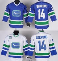 alexandre burrows - Hot Cheap Youth Alexandre Burrows Jersey Vancouver Canucks Hockey Jerseys for child Home Royal Blue Kids Stitched Jerseys