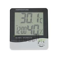aquarium temperature alarm - Digital LCD Screen Thermometer Refrigerator Fridge Freezer Aquarium FISH TANK Temperature Meter C F Gauge Clock Alarm white