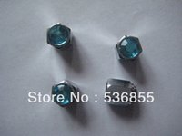 Wholesale High quality Hex shape tire valve cap with colorful Diamond on the top whole sale
