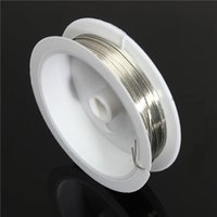 Cheap High Quality 1 Roll 6m Length 0.8mm Dia Sliver Color Copper Wire For Jewelry Craft