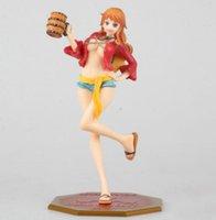 beer pvc - 22cm One Piece Straw Hat Nami with beer barrel Mugiwara Pop PVC Figure