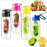 Wholesale 2016 New Design Top Quality ML Fruit Water Bottle Cycling Travel Mug Cup Outdoor Sports Glass Dronkware Creative Gifts