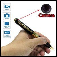 surveillance dvr - Free DHL HD Spy Pen Camera Hidden Video Recorder Surveillance DVR DV Spy Cam x960 x480 AVI Hidden Gold Support SD TF Card Recording