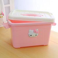 Wholesale Case Box Safety Holder Storage Container plastic box Portable Case for women rangement maquillage caixa organizadora makeup organizer