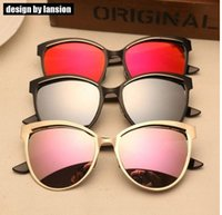 best beautiful eyes - 2016 SUPER Fashion high quality Best Price Metalic Cat Eyes Sunglasses Beautiful Classic Vintage Sunglass Unisex Reflective Lens UV400