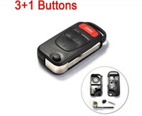 Wholesale car New REMOTE Flip Key Shell For MERCEDES BENZ ML320 ML55 AMG C230 S500 E420