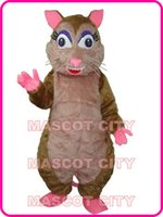 Mascot Costumes animal vole - Vole Mouse Rat Mascot Costume Adult Size Cartoon Character Field Animal Mascotte Carnival Costumes