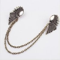 Wholesale Gold Silver Fashion Charm Elegant Romantic Punk Retro Remarkable Freedom Gem wings brooch for women PT32 A2