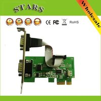 Wholesale PCIE PCI E to Dual Serial DB9 RS232 Port serial card Expr