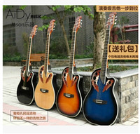 Yes acoustic electric guitar brands - inch Acoustic Electric Box Guitar High grade Perfecte P Plastic Back Grape Holes Wood Guitar Electric Guitar Multi
