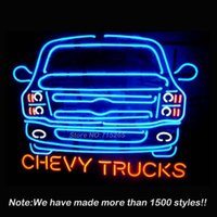 automobile art - Automobile Chevy Trucks Sign Neon Light Sign Neon Bulbs Art Store Display Glass Tube Design Guarantee Handcraft x20
