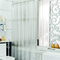 Wholesale 180cm High Quality Finished Modern Elegant White PEVA Cutrain Waterproof Bathroom Shower Curtain For Bath