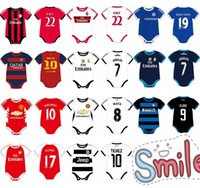 Wholesale New Best quality Cotton Baby Romper amp Jumper soccer jumpersuit with sock Free Shippment