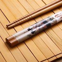 ancient china bamboo - Favorite Pairs Set Pairs Bamboo Cultured Ancient China Beautiful Women Beaut Oil Painting Chinoiserie Chopsticks