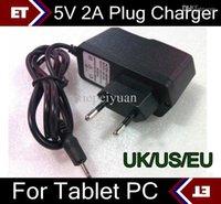 Wholesale DHL X V A EU US UK Plug Converter Charger Power Adapter for tablet PC Allwinner A13 A23 Q88 TC2