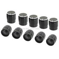 Wholesale 10pcs x16mm Black Knob Cap Mini Aluminum Alloy Potentiometer Knobs Cap