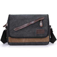 Wholesale 2016 Men s Travel Bag Canvas Men Messenger Bag Brand Mens Bag Vintage Style Briefcase Travel Shoulder Bag