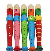 Wholesale High quality Wooden Plastic Kid Piccolo Flute Musical Instrument Early Education Toy