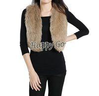 Wholesale Free amp amp drop shipping Fashion Winter Sleeveless Warm Women Faux Fur Short Vest Jacket Waistcoat Coat