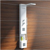 Wholesale New Modern CUPC Certificate Solid Surface Shower Panel Wall Mounted Shower Faucet Column Corian Panel RS0031