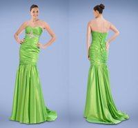 beaded motif - Delightfully Sweetheart Mermaid Evening Gowns Adorned with Beaded Motif and Delicate Pleat Lace up Sweep Train Prom Dresses X2334
