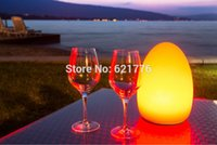 ball lampe - D14 H19CM Colorful changed rechargeable LED Egg ball night light tables of hotels and restaurants lampe de rable sans fil