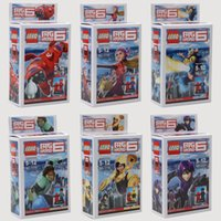 big building blocks children - New Big Hero Baymax Fred Go Go Tomago Honey lemon Building Blocks Sets Mini figure DIY Bricks children kid gift toys