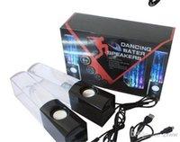 Haut-parleur d'eau de danse Haut-parleur de Bluetooth Mini Haut-parleur audio de musique 3.5MM pour Iphone 4s 5 USB LED Light USB mini coloré Drop-Show d'eau HZ 012