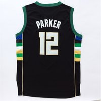 milwaukee - Milwaukee Jabari Parker Black Jersey Bucks Sleeveless Embroidery Logo Top Quality Men s Tops