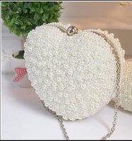 motorcycle hard bags - Luxury Pearls Bridal Hand Bags With Chain Women Clutches Satche Evening Prom Party Formal Bags Wedding Accessory In Stock QM