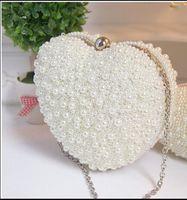 Sacs de luxe Perles main nuptiale avec la chaîne 2 016 femmes embrayages Satché Soirée Prom Party Sacs formelles accessoire de mariage En Stock QM
