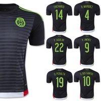mexico - Best Mexico Uniforms Home Black CHICHARITO G DOS SANTOS Soccer Jerseys Mexico Kits O PERALTA Thailand Fans Version