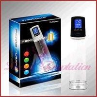 Wholesale LCD screen men s penis pump USB rechargeable male Vacuum suction enlargement sex toys for man