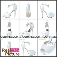 arrival pumps - 3128 Uniques White Wedding Shoes Size CM Open Toe Custom Made Evening Party Shoes For Women New Arrival