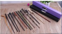 Wholesale DHL Harry Potter Magic Wand Dumbledore Magic Magical Wand Cosplay Wands With box Non luminous Styles