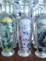antique art glass vases - 2016 New Chinese glass vase crafts bottle inner ancient scenery microlandschaft crystal vase painting artwork