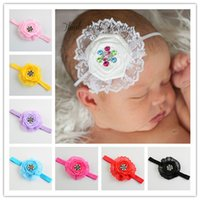 assorted roses - Baby headbands Roses colorful Crystal headband colors assorted children baby girls hair accessories