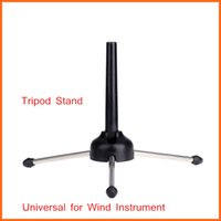 Wholesale Wind Instrument Stand Folding Tripod Black Universal for Oboe Flute Clarinet Durable Metal Feet Design Stably