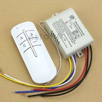 Wholesale New V Wireless ON OFF Ways Lamp Remote Control Switch Receiver Transmitter