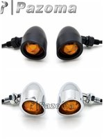Cheap 3 colors Universal Motorcycle Turn Signals lights For Yamaha Vino Classic 50 80 125 Blinker Indicator Lights with Amber Lens- Pazoma