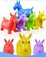 riding toys - Nice Color styles Green Horse Hopper Inflatable Toy Jumping Horse Space Hopper Ride on Bouncy Animal Toys for kids Baby learning Toy