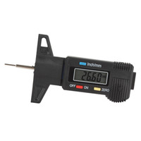 Wholesale Mini Plastic Carbon Fiber Car LCD Digital Display Tread Depth Gauge Digital Vernier Caliper INS_418